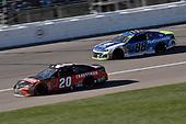 #20: Erik Jones, Joe Gibbs Racing, Toyota Camry Craftsman and #88: Alex Bowman, Hendrick Motorsports, Chevrolet Camaro Nationwide