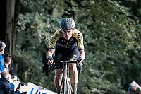 Alex Edmondson (AUS/Mitchelton-Scott) up the Kemmelberg<br /> <br /> 82nd Gent-Wevelgem in Flanders Fields 2020 (1.UWT)<br /> 1 day race from Ieper to Wevelgem (232km)<br /> <br /> ©kramon