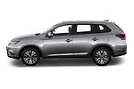 Car Driver side profile view of a 2019 Mitsubishi Outlander GT 5 Door SUV Side View