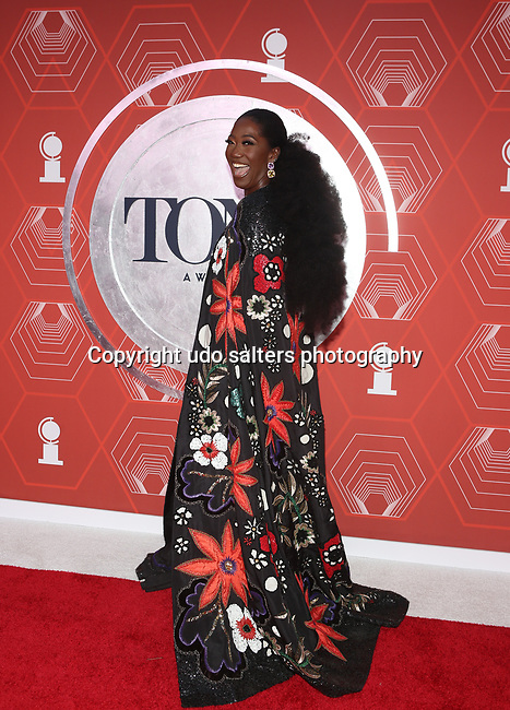 Amber Iman attends the 74th Tony Awards-Broadway's Back! arrivals at the Winter Garden Theatre in New York, NY, on September 26, 2021.