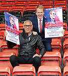 Murdo Macleod and Mark Hateley talk Scotland v England whilst they promote Elton John at Airdrie's Excelsior Stadium