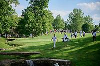 5th June 2021; Dublin, Ohio, USA;   Jon Rahm (ESP) crosses the bridge to the 17th green during the third round of the Memorial Tournament at Muirfield Village Golf Club in Dublin, Ohio on June 05, 2021.