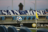 SAN JOSE, CA - SEPTEMBER 5: MLS soccer ball before a game between Colorado Rapids and San Jose Earthquakes at Earthquakes Stadium on September 5, 2020 in San Jose, California.