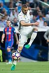 Karim Benzema of Real Madrid during the match of La Liga between Real Madrid and Futbol Club Barcelona at Santiago Bernabeu Stadium  in Madrid, Spain. April 23, 2017. (ALTERPHOTOS)