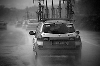 Rain came down in bucketloads and turned the road into an extremely slippery surface to race on. The race was neutralised after many riders crashed in one of the descents. After that everybody needed to regroup and cars raced to that point to check with their riders.<br /> <br /> Tour of Turkey 2014<br /> stage 4