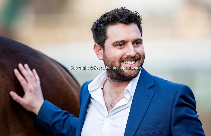 JAN 11: Trainer Andrew Lerner after winning the La Canada Stakes at Santa Anita Park in Arcadia, California on January 11, 2020. Evers/Eclipse Sportswire/CSM