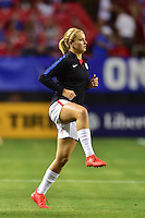 Atlanta, GA - Sunday Sept. 18, 2016: Lindsey Horan prior to a international friendly match between United States (USA) and Netherlands (NED) at Georgia Dome.