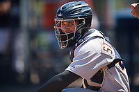 Detroit Tigers Andres Sthormes (44) during a Minor League Spring Training game against the New York Yankees on March 21, 2018 at the New York Yankees Minor League Complex in Tampa, Florida.  (Mike Janes/Four Seam Images)