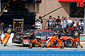 2017 Monster Energy NASCAR Cup Series<br /> Auto Club 400 Auto Club Speedway, Fontana, CA USA<br /> Sunday 26 March 2017<br /> Martin Truex Jr, Bass Pro Shops/TRACKER BOATS Toyota Camry pit stop<br /> World Copyright: Russell LaBounty/LAT Images<br /> ref: Digital Image 17FON1rl_6430