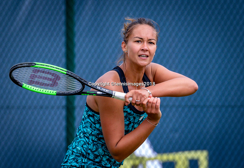 Den Bosch, Netherlands, 12 June, 2018, Tennis, Libema Open, Womans doubles: Lesley Kerkhove (NED) <br /> Photo: Henk Koster/tennisimages.com