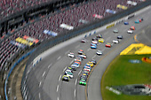 #18: Kyle Busch, Joe Gibbs Racing, Toyota Camry Interstate Batteries and #12: Ryan Blaney, Team Penske, Ford Mustang Menards /Sylvania