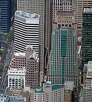 aerial photograph 50 Second Street 595 Market Street 33 New Montgomery Street San Francisco