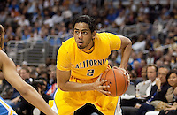 Jorge Gutierrez controls the ball. The California Golden Bears defeated the UCLA Bruins 85-72 during the semifinals of the Pacific Life Pac-10 Conference Tournament at Staples Center in Los Angeles, California on March 12th, 2010.
