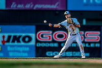 29 July 2018: Vermont Lake Monsters infielder Joseph Pena in action against the Batavia Muckdogs at Centennial Field in Burlington, Vermont. The Lake Monsters defeated the Muck Dogs 4-1 in NY Penn League action. Mandatory Credit: Ed Wolfstein Photo *** RAW (NEF) Image File Available ***
