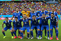 Greece team line up before kick off