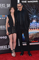 Charlotte Gainsbourg + Jeff Goldblum @ the premiere of 'Independence Day: Resurgence' held @ the Chinese theatre.<br /> June 20, 2016.