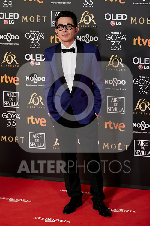 Berto Romero attends to 33rd Goya Awards at Fibes - Conference and Exhibition  in Seville, Spain. February 02, 2019. (ALTERPHOTOS/A. Perez Meca)
