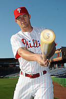 Feb 20, 2009; Clearwater, FL, USA; The Philadelphia Phillies catcher Lou Marson (3) during photoday at Bright House Field. Mandatory Credit: Tomasso De Rosa/ Four Seam Images
