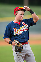 Johnson City Cardinals third baseman Allen Staton (40) during the game against the Bristol Pirates at Boyce Cox Field on July 7, 2015 in Bristol, Virginia.  The Cardinals defeated the Pirates 4-1 in game one of a double-header. (Brian Westerholt/Four Seam Images)
