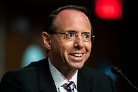 Former deputy AG Rosenstein testfies on Crossfire Hurricane investigation on Capitol Hill