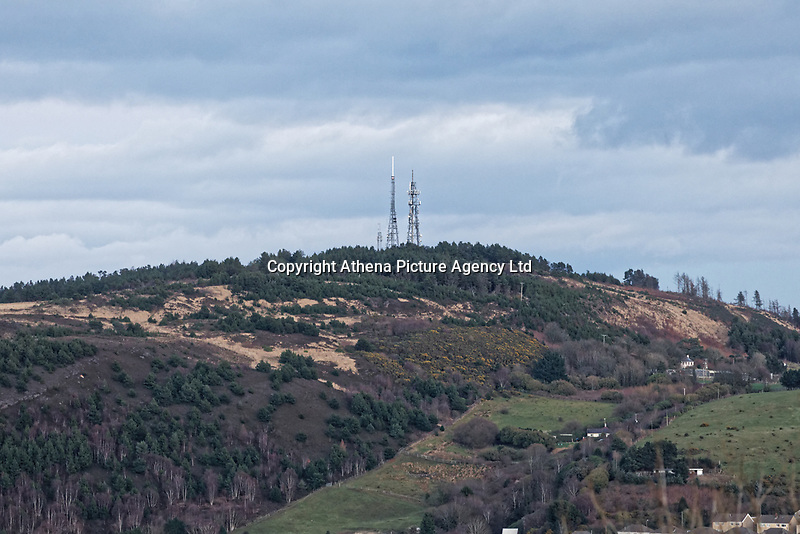General view of the tv and radio transmitters on Kilvey Hill in Swansea, Wales, UK. Wednesday 30 January 2019