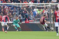 Nicola Sansone of Bologna FC scores the goal of 1-1 <br /> Bologna 22/09/2019 Stadio Renato Dall'Ara <br /> Football Serie A 2019/2020 <br /> Bologna FC - AS Roma <br /> Photo Massimiliano Vitez / Image Sport / Insidefoto