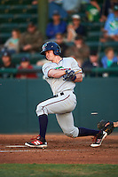 Fort Myers Miracle center fielder Austin Diemer (5) during a game against the Daytona Tortugas on April 17, 2016 at Jackie Robinson Ballpark in Daytona, Florida.  Fort Myers defeated Daytona 9-0.  (Mike Janes/Four Seam Images)
