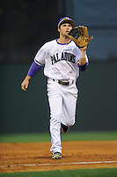 Outfielder Will Muzika (2) of the Furman Paladins in a game against the South Carolina Gamecocks on Wednesday, April 3, 2013, at Fluor Field at the West End in Greenville, South Carolina. (Tom Priddy/Four Seam Images)