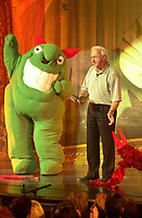 July 11 2002, Montreal, Quebec, Canada<br /> Gaetan Frigon, President Loto Quebec (main sponsor) officially opens  the 20th Juste Pour Rire Festival, July 11, 2002 in Montreal, CANADA<br /> <br /> <br /> Mandatory Credit: Photo by Pierre Roussel- Images Distribution. (©) Copyright 2002 by Pierre Roussel <br /> <br /> NOTE : <br />  Nikon D-1 jpeg opened with Qimage icc profile, saved in Adobe 1998 RGB<br /> .Uncompressed  Original  size  file availble on request.