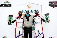 #54 MLT Motorsports Ligier JS P320, P3-1: Dakota Dickerson, Josh Sarchet, victory lane