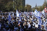FILE - Manif pro-Israel, le 12 mai 2016<br /> <br /> <br /> PHOTO  :  Agence Quebec Presse