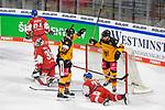 Eishockey: Deutschland – Tschechien am 01.05.2021 in der ARENA Nürnberger Versicherung in Nürnberg<br /> <br /> Torjubel bei Deutschlands Frederick Tiffels (Nr.95) und Deutschlands Sebastian Uvira (Nr.27) nach dem 2:0<br /> <br /> Foto © Duckwitz/osnapix/PIX-Sportfotos *** Foto ist honorarpflichtig! *** Auf Anfrage in hoeherer Qualitaet/Aufloesung. Belegexemplar erbeten. Veroeffentlichung ausschliesslich fuer journalistisch-publizistische Zwecke. For editorial use only.