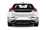Straight rear view of 2015 Volvo V40 R-Design 5 Door Hatchback Rear View  stock images