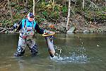 Tom Harris fly fishing in northeast PA