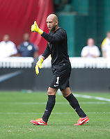 Tim Howard.  The USMNT defeated Germany, 4-3, in a friendly match held at RFK Stadium in Washington, DC.