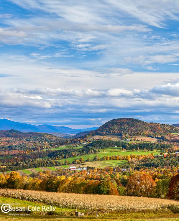 Fall foliage in Peacham, Northeast Kingdom, VT, USA