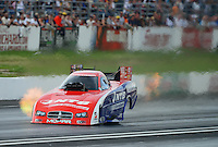 Jun. 2, 2012; Englishtown, NJ, USA: NHRA funny car driver Johnny Gray during qualifying for the Supernationals at Raceway Park. Mandatory Credit: Mark J. Rebilas-