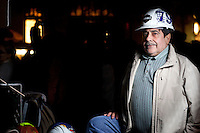 """Eduardo Diaz.<br /> <br /> """"I'm a construction worker coming to support Laborers Local 79, I'm coming to support everything here.  Two years I haven't worked.  I have a big family.  [We need] more money for schools, for citizens, for workers, for old people.  The country needs some change.  More money for education is the first thing.  America first."""""""