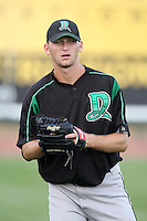 Dayton Dragons pitcher Ricky Bowen during a game vs. the Great Lakes Loons at Dow Diamond in Midland, Michigan August 19, 2010.   Great Lakes defeated Dayton 1-0.  Photo By Mike Janes/Four Seam Images