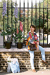 Chelsea Flower Show London. The last day, visitors at the end of the show are able to buy the specimens that have been in the show and are taking them home. 1997