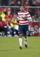 03 June 2012: US Men's National Soccer Team forward Chris Wondolowski #19 in action during an international friendly  match between the United States Men's National Soccer Team and the Canadian Men's National Soccer Team at BMO Field in Toronto..The game ended in 0-0 draw...