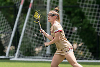 NEWTON, MA - MAY 16: Courtney Weeks #6 of Boston College looks to pass during NCAA Division I Women's Lacrosse Tournament second round game between Temple University and Boston College at Newton Campus Lacrosse Field on May 16, 2021 in Newton, Massachusetts.
