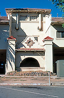 Mission RR Stations: Santa Fe Station, Fresno. Western elevation, detail. (Reveals decrepitude of seemingly abandoned building.) Photo 2000.
