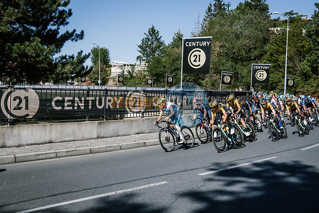 The lead group during Stage 7 of Tour de France 2020, running 168km from Millau to Lavaur, France. 4th September 2020.<br /> Picture: ASO/Pauline Ballet   Cyclefile<br /> All photos usage must carry mandatory copyright credit (© Cyclefile   ASO/Pauline Ballet)