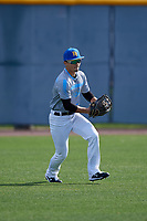 Rafael A. Diaz during the Under Armour All-America Pre-Season Tournament, powered by Baseball Factory, on January 19, 2019 at Sloan Park in Mesa, Arizona.  Rafael A. Diaz is an outfielder from Isabela, Puerto Rico who attends Carlos Beltran Academy.  (Mike Janes/Four Seam Images)