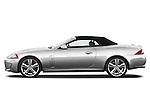 Driver side profile view of a 2011 Jaguar XKR Convertible .