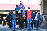 January 16, 2021: Logical Myth wins the Colonel E.R. Bradley Stakes at Fair Grounds Race Course in New Orleans, Louisiana. Parker Waters/Eclipse Sportswire/CSM