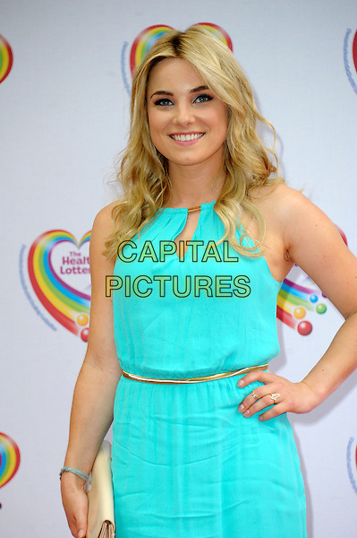 LONDON, ENGLAND - JUNE 02: Sian Welby attends the Health Lottery Tea Party at The Savoy Hotel on June 2, 2014 in London, England.<br /> CAP/CJ<br /> ©Chris Joseph/Capital Pictures