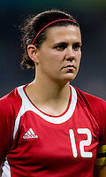 Christine Sinclair. The USWNT defeated Canada in extra time, 2-1, during the 2008 Beijing Olympics in Shanghai, China.
