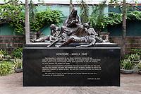 Philippines, Manila, 5 march, 2008..War memorial for the 100000 victims in Manila at the end of the 2nd World War in Intramuros the oldest district of the city of Manila...Oorlogsmonument ter herinnering aan de honderdduizend doden aan het einde van de 2e WO in Intramuros, het oudste district van Manila, de hoofdstad van de Filippijnen...Photo Kees Metselaar